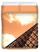 Louvre Pyramid Top Edited Duvet Cover