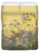 Lovage Clematis And Shadows Duvet Cover