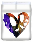 Love 1 - Heart Hearts Romantic Art Duvet Cover