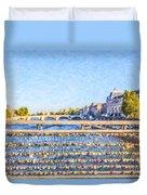 Love Across The Seine Duvet Cover