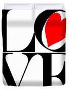 Love All Around Duvet Cover