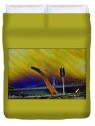 Love At Cupid's Span San Francisco Bay Bridge Duvet Cover