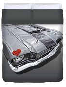 Love At First Sight - '66 Mustang Duvet Cover