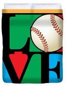 Love Baseball Duvet Cover