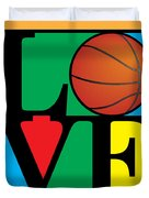 Love Basketball Duvet Cover