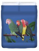 Love Birds Duvet Cover by Kathy Weidner
