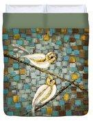 Love Birds- Warm Tone Duvet Cover