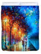 Love By The Lake Duvet Cover