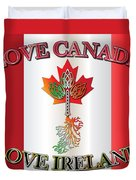 Love Canada Love Ireland16in Duvet Cover