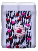 Love Candy Hearts Duvet Cover