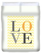 Love Chevron Yellow Duvet Cover