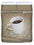 Love Coffee And Music Duvet Cover