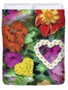 Love Flowers Garden Duvet Cover