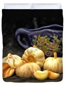 Love For Garlic Duvet Cover
