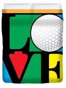 Love Golf Duvet Cover