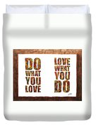 Love In Life Acrylic Palette Knife Painting Duvet Cover