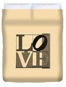 Love In Sepia Duvet Cover