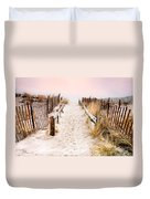 Love Is Everything - Footprints In The Sand Duvet Cover