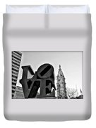 Love Is Just Black And White Duvet Cover