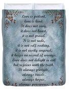 Love Is Patient Clouds Gold Leaf Duvet Cover