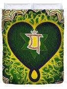 Love Is Spiritual Heart Chakra Duvet Cover