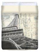 Love Letter From Paris Square Duvet Cover