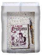 Love Letter Writer Book Duvet Cover