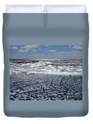 Love Letters In The Sand Duvet Cover