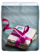 Love Letters Tied With Ribbon Duvet Cover