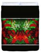 Love Life Mirrored Lilies Duvet Cover