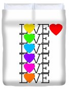 Love Love Love Duvet Cover