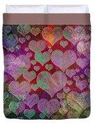Love... Love... Love Duvet Cover