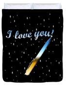 Love Message Digital Painting Duvet Cover