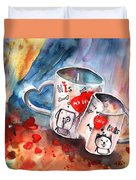 Love Mugs Duvet Cover