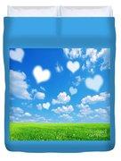 Love Nature Background Duvet Cover