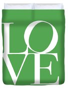 Love On Green Duvet Cover