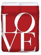 Love On Red Duvet Cover