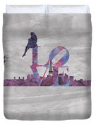 Love Over Paris Duvet Cover
