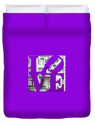 Love Philadelphia Purple Duvet Cover