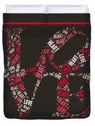Love Quatro Heart - S111b Duvet Cover
