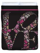 Love Quatro - S08a Duvet Cover by Variance Collections