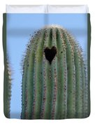 Love Shack Saguaro With A Heart Duvet Cover