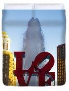 Love Statue In Philadelphia Pa Duvet Cover