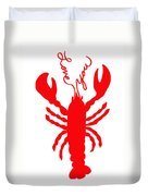 Love You Lobster With Feelers Duvet Cover