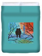 Lovebirds In P-town Duvet Cover