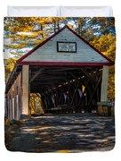 Lovejoy Covered Bridge Duvet Cover by Bob Orsillo