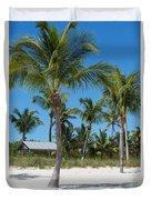 Lovely Beach On Key West East Side Duvet Cover
