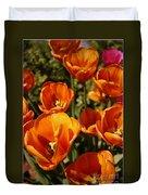 Lovely Burnt Orange Tulips Duvet Cover