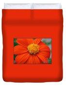 Lovely In Orange - Mexican Daisy Duvet Cover