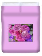 Orchid Lovely In Pink And White Duvet Cover